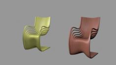 Chair modern 3D 3D Model