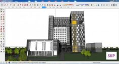 Sketchup office building G6 3D Model