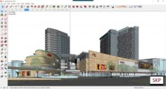 Sketchup Commercial and office complex C2 3D Model