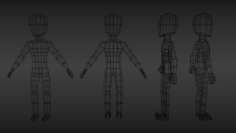 Animated Game Character 3D Model