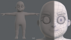 Base mesh boy character V06 3D Model