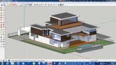 Villa sketchup – 1 3D Model