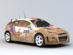 Dirty Rally Car 3D Model
