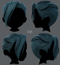 3D Hair style for boy V36 3D Model