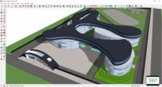 Sketchup school K2 3D Model