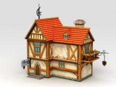 Medieval City House 3D Model