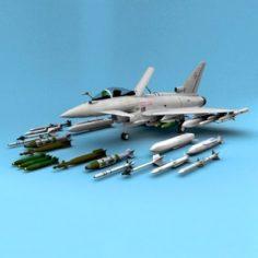 Typhoon Eurofighter 3D Model