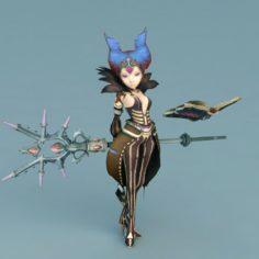 Dragon Nest witch – w3 3D Model
