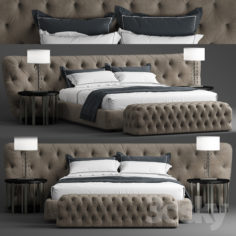 Bed Casamilano ROYALE CAPITONE                                      3D Model