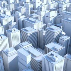19 Low Poly Buildings 3D Model