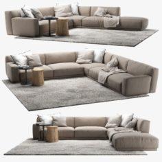Poliform Paris Seoul sofa 4 3D Model