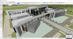 Sketchup Seniors building A1 3D Model