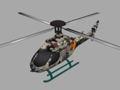 The helicopter TI-140 3D Model
