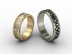 Wedding rings 3D-N -008 3D Model