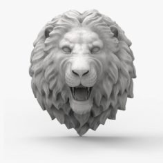 Lion head scupture 3D Model