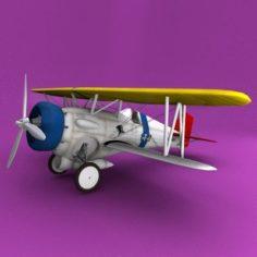 Curtiss F11C-2 Goshawk 3D Model