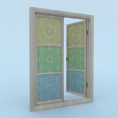 Traditional Moroccan Window 3D Model