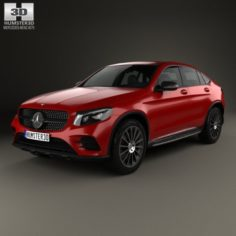 Mercedes-Benz GLC-Class C253 Coupe AMG Line 2016 3D Model