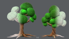 Trees Cartoon V01 3D Model