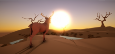 Low Poly Rigged Animals 3D Model