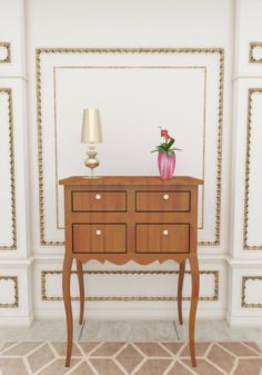 Wooden table 2 3D Model