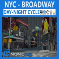 New York City Broadway 3D Model