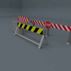 Road Blocks Package 3D Model