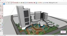 Sketchup hotel complex G8 3D Model