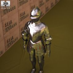 Plate armour 3D Model