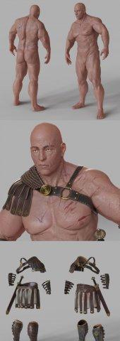 Gladiator in Roman ammunition – CH2 3D Model