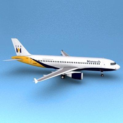 Airbus 320 Monarch 3D Model