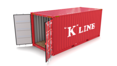 20ft Shipping Container K Line 3D Model