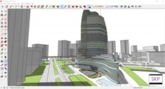 Sketchup hotel complex G6 3D Model