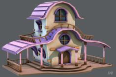 House Cartoon V01 3D Model