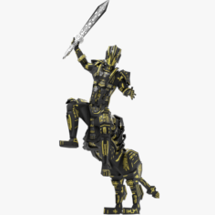 Armored Robot character 3D Model