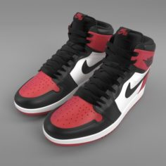 Air Jordan 1 Retro High PBR 3D Model