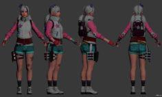 Lunatic Cindy 3D Model