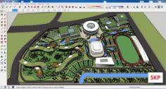 Sketchup Sport complex 102 3D Model