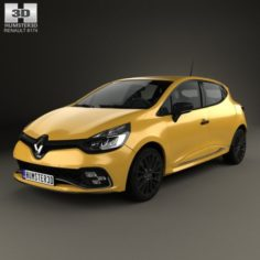 Renault Clio RS 5-door hatchback 2016 3D Model