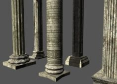 Columns Collection 3D Model