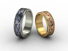 Wedding rings 3D-N-001 3D Model
