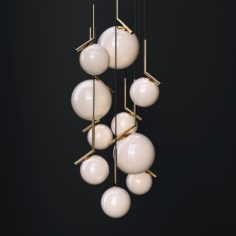 Chandelier Flos IC GOLD 3D Model