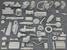 Kit bash54 pieces – collection-12 3D Model