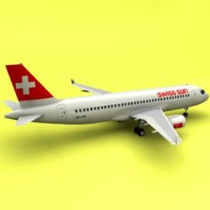 A-320 Swiss Sun Swiss International Air Lines 3D Model