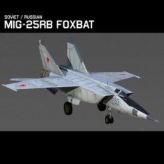 Mig 25RB Foxbat B 3D Model