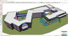 Sketchup building A2 3D Model
