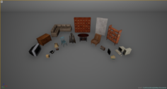 Host Old room fullpuck 3D Model