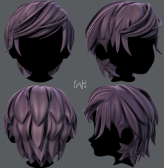 3D Hair style for boy V37 3D Model