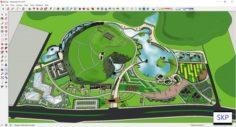 Sketchup Recreational complex B9 3D Model
