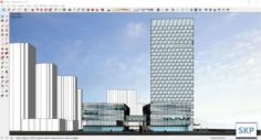 Sketchup Commercial and office complex N5 3D Model